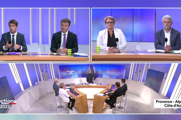 Quatre candidats des cinq présents pour le premier tour des élections départementales 2021 dans le canton de Manosque 2 se sont affrontés dans un débat sur France 3.