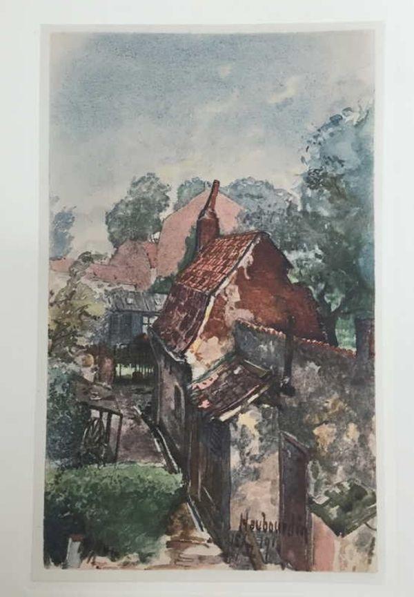 Les toits d'Haubourdin peints par Adolf Hitler en 1916.