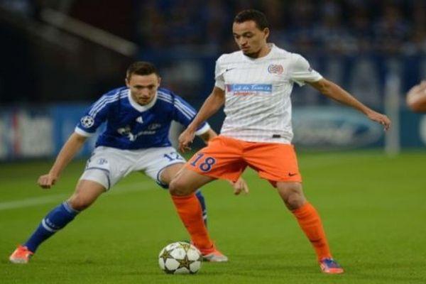 Karim Ait-Fana, milieu de terrain du MHSC, lors du match de Ligue des cahmpions contre Schalke - 3 octobre 2012.