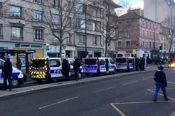 Situation tendue à Rennes lors de la manifestation des Gilets jaunes du 19 janvier 2019