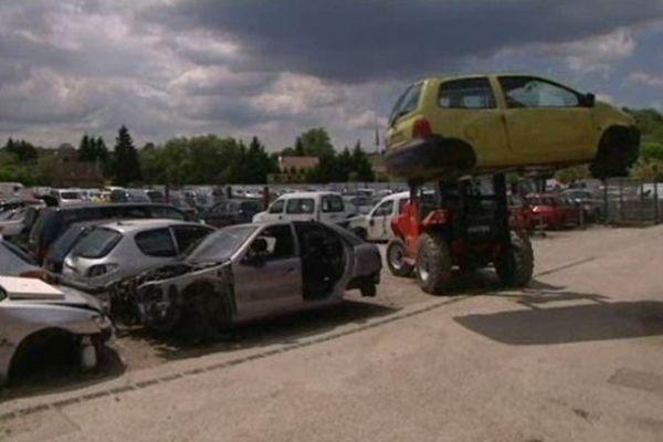 La casse automobile de Granges-la-Ville (Haute-Saône)