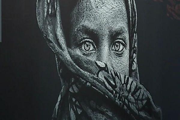 Le street artiste Nasti expose ses oeuvres en ce moment à l'Institut Culturel Bernard Magrez