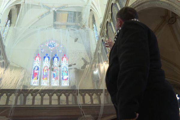Une partie de la voûte de l'église Saint-Jacques de Saint-James s'est effondrée le 6 novembre 2017