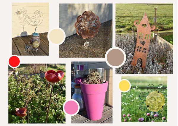 Les exemples de décorations de jardin ne manquent pas.