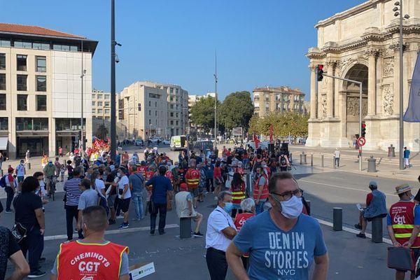 A Marseille, la manifestation est partie de la Porte d'Aix