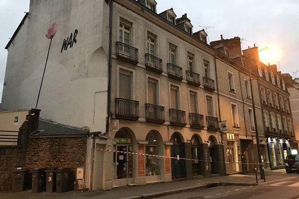 Une dizaine de résidents de l'immeuble du 30-32 rue Saint-Hélier à Rennes