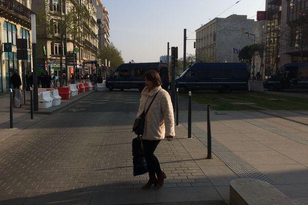 Le centre-ville d'Angers quasi désert le 28 mars 2019 avant la venue d'Emmanuel Macron