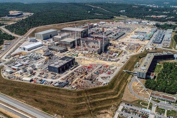 Le site d'ITER à Saint-Paul-lès-Durance.