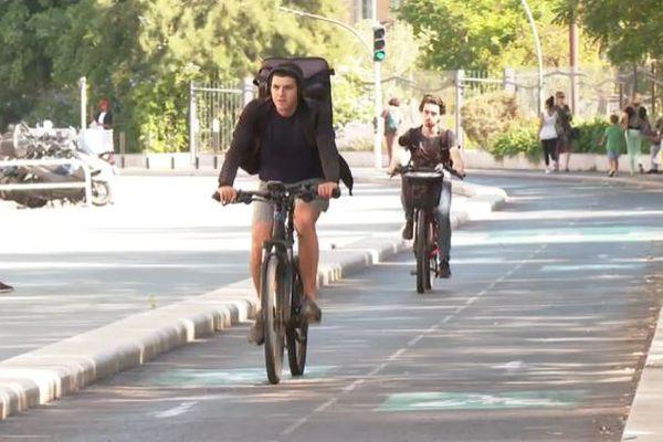 Les voies cyclables existantes sont très utilisées par les habitants de la ville.