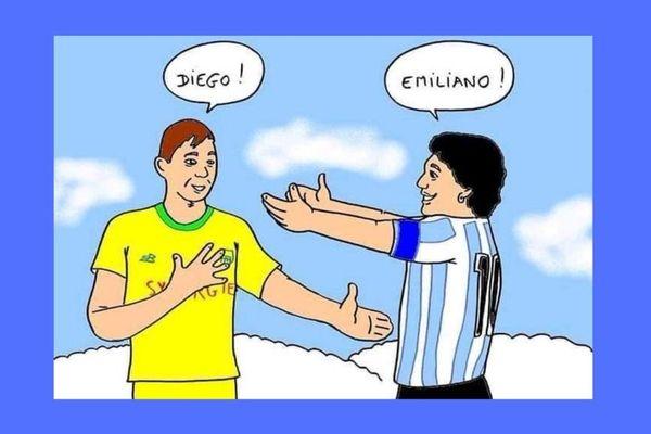 """Repris par le FC Nantes, club où évoluait Emiliano Sala, le dessin d'Armand Prin a été """"aimé"""" 130 000 fois sur Twitter"""