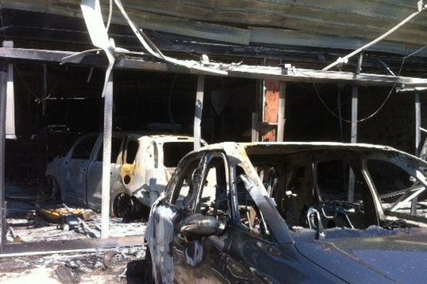 L'incendie a presque totalement détruit la concession.