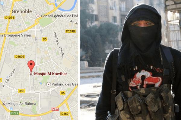 L'homme interpellé à Grenoble serait recruteur pour le Jihad (à droite, photo d'illustration, un jeune jihadiste en Syrie).