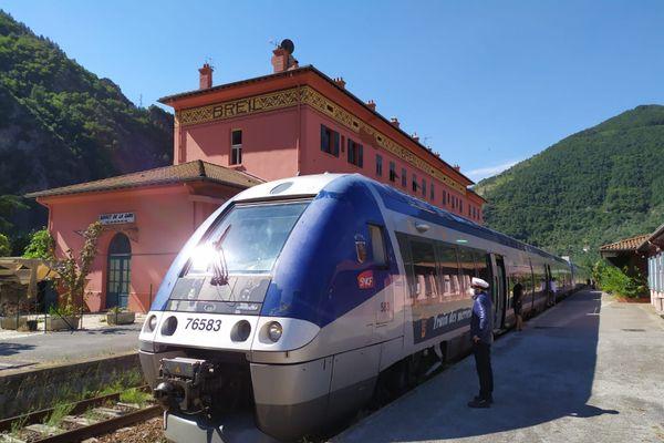 Le train des Merveilles à Tende avant les intempéries d'octobre 2020.