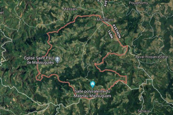 Le feu de forêt a pris le 6 avril dans l'après-midi sur la commune de Masnau Massuguiès, au lieu-dit Puech Mégé, dans le Tarn.