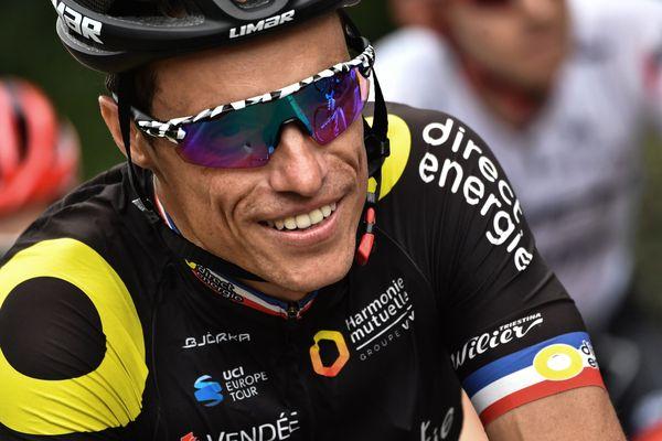 Sylvain Chavanel lors de son 18e et dernierTour de France en 2018