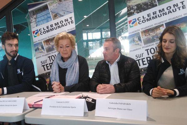 Les patineurs Guillaume Cizeron et Gariella Papadakis ont signé lundi 28 décembre une convention avec Clermont Communauté.