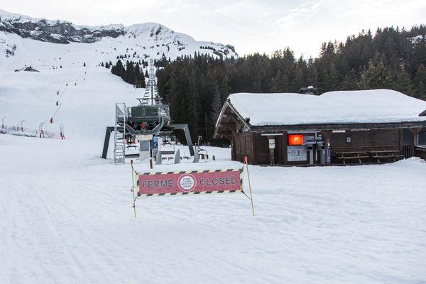 Le domaine skiable de Megève, le 5 février 2021.