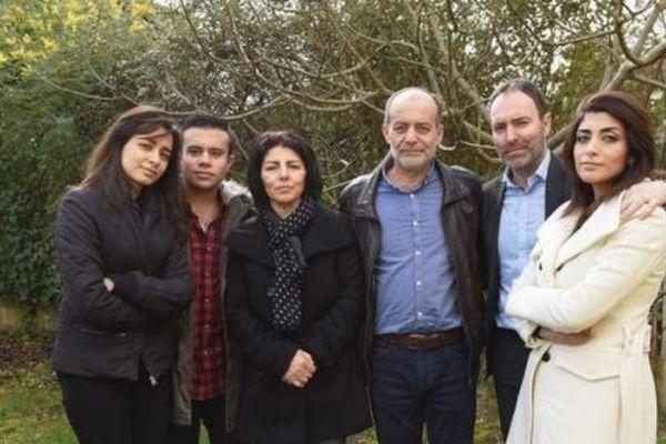 Stephan Pélissier en compagnie de son épouse et de sa belle famille syrienne