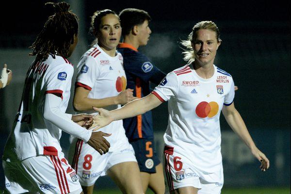 Amandine Henry lors du match entre l'OL et Montpellier, le 31 octobre 2020.