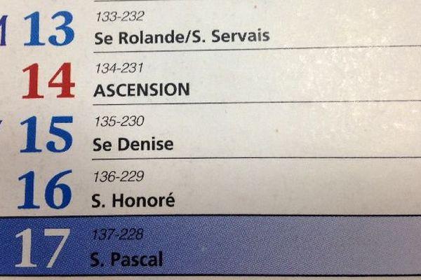 Le calendrier français compte 11 jours fériés