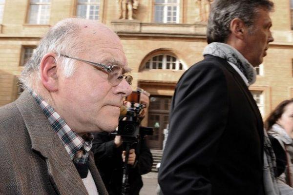 Procès Francis Heaulme Metz 1er avril 2014 - Henri Leclaire et son avocat Thomas Hellenbrand