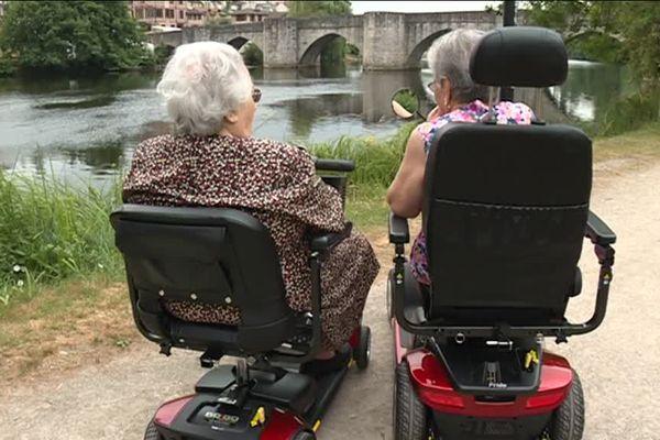 Une petite balade en scooter médicalisé sur les bords de Vienne