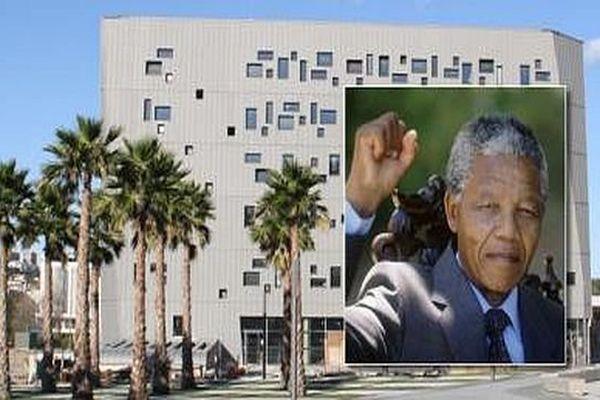 la Maison départementale des Sports de Pierresvives (Montpellier)  est baptisée « Nelson Mandela »