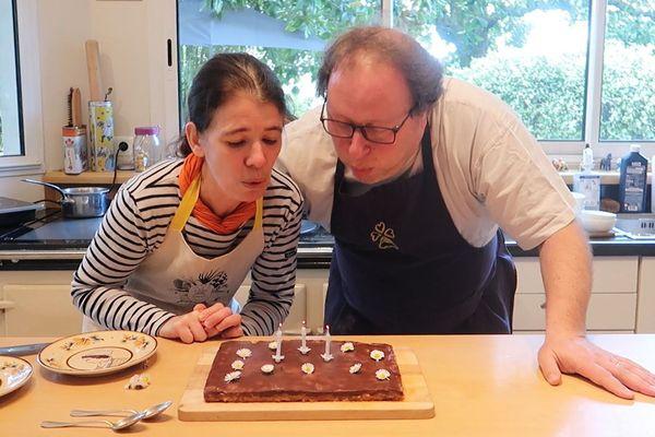 C'est à leur domicile de Lorient, confinement oblige, que Nathalie et Arnaud Beauvais ont fêté les 30 ans de leur restaurant.