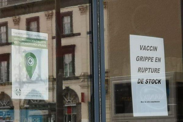 A Clermont-Ferrand, les vaccins contre la grippe sont déjà en rupture de stock dans certaines pharmacies.