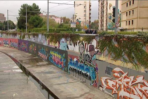 Les quais du Verdanson, lieu d'exposition montpelliérain d'artistes de street art nationaux et internationaux