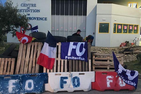 7e jour de grève des surveillants pénitentiaires à Salon-de Provence