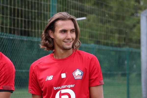 Virgiliu Postolachi à la fin de son premier entraînement avec le LOSC.