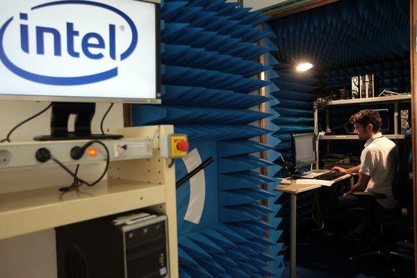Un salarié d'Intel sur le site de Sophia-Antipolis (Archives)