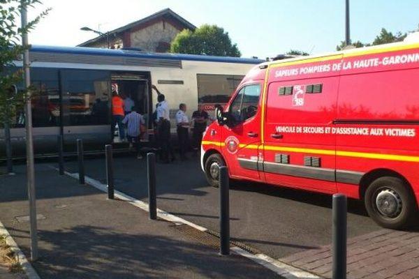 L'accident s'est produit vers 8h00 au passage à niveau n°5, rue de la Faourette à Toulouse.