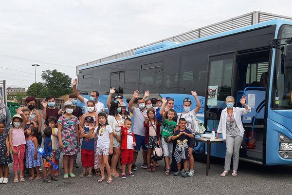 Une sortie à la mer organisée par les Restos du Cœur de la Haute-Garonne en 2020 pour les enfants défavorisés.