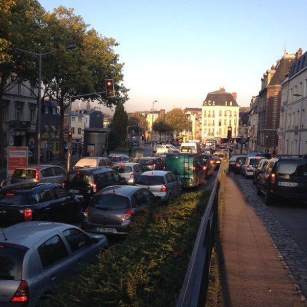 La ville de Rouen bloquée