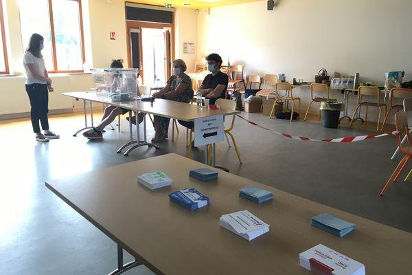 Bureau de vote localisé dans l'école Edouard Branly, canton de Strasbourg-4, dans la Collectivité européenne d'Alsace (CEA).