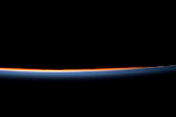 Coucher de soleil à bord de l'ISS
