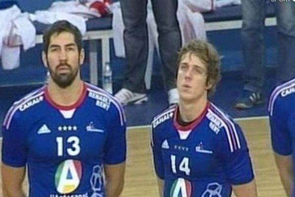 Mersin (Turquie) - Nikola Karabatic rejoue en équipe de France - 4 novembre 2012.