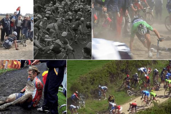 Paris-Roubaix : attention à la chute !