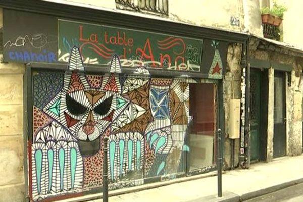 La plupart des commerces de ces trois rues du 3e arrondissement sont fermés