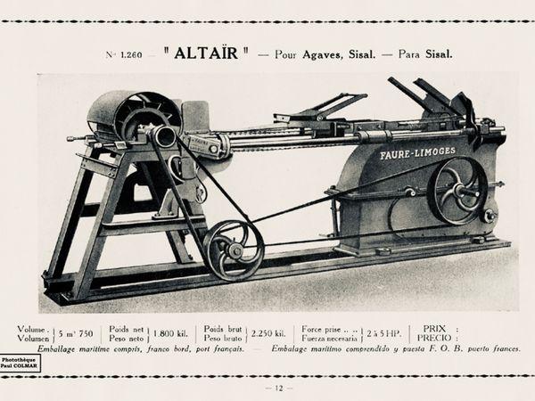Une publicité pour une machine outil de l'entreprise Faure à Limoges dans les années 1940