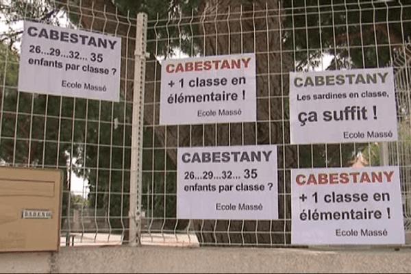 La grogne persiste à Cabestany après la réunion de la commission technique paritaire à l'inspection d'académie.