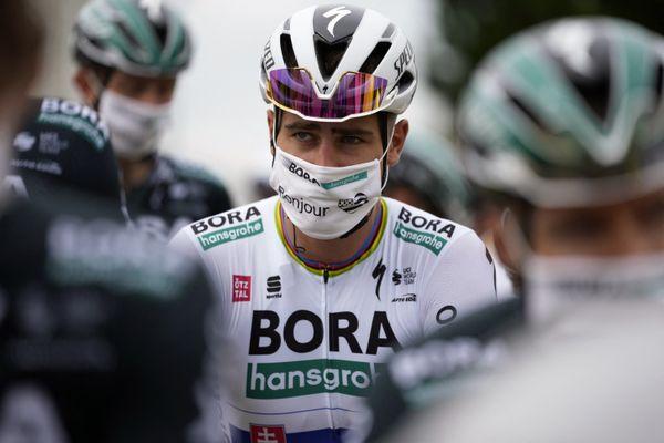 Peter Sagan (ici lors du grand départ du Tour de France 2021 à Brest) signe en Vendée chez TotalÉnergie.
