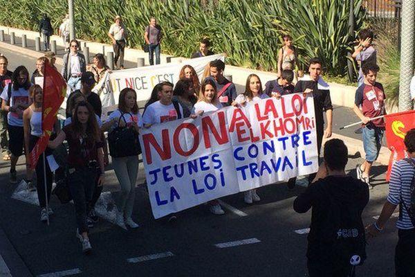 Ils étaient 700 ce matin à manifester à Nice.