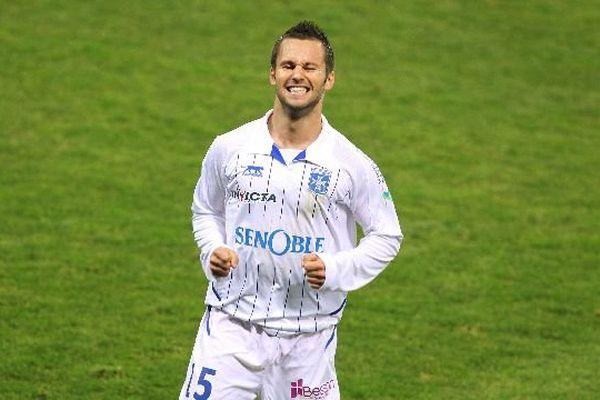Frédéric Sammaritano, milieu auxerrois, lors d'un match de Ligue 1 Sochaux-Auxerre le 6 novembre 2010.
