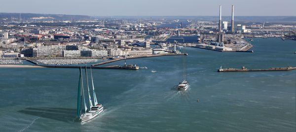 Vue panoramique - flotte Towt en mer - port du Havre