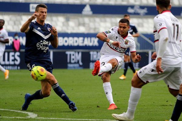 Tir de l''Aiglon Rony Lopes durant le match contre Bordeaux... A l'arrivée, un match nul.