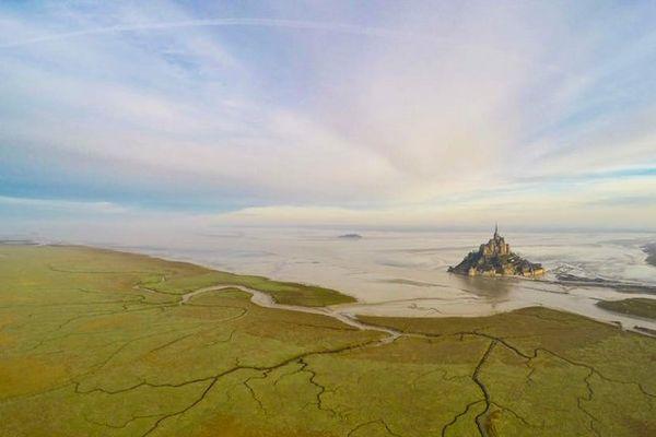Un ciel de plus en plus voilé dès le matin sur le Mont St-Michel
