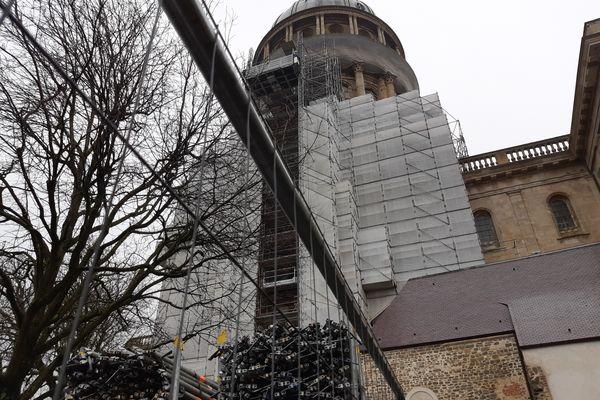 Le colossal chantier de la rénovation du dôme de la basilique Notre-Dame de Boulogne-sur-Mer